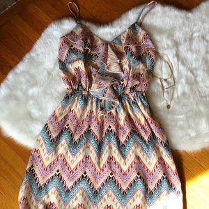 Dresses & Skirts - Aztec Ruffle Dress